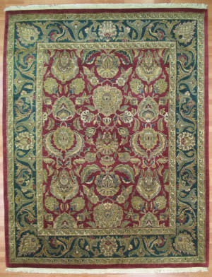 Kalaty Oak 154153 Burgundy Green Area Rug