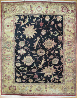 Kalaty Oak 158776 Black Beige Area Rug