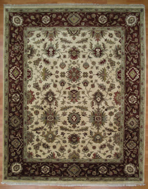 Kalaty Oak 255236 Ivory Rust Area Rug