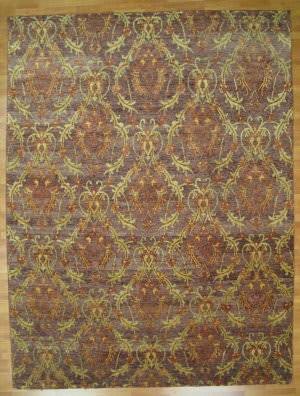 Kalaty Oak 271909 Eggplant Gold Area Rug
