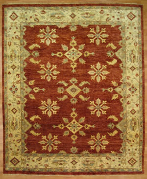 Kalaty Oak 297643 Red Ivory Area Rug