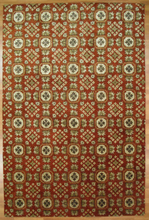 Kalaty Oak 348008 Red Area Rug