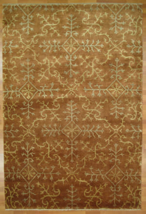 Kalaty Oak 350053 Rust Ivory Area Rug