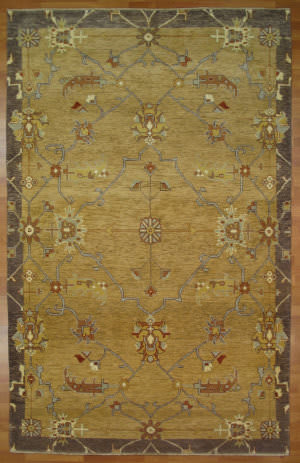 Kalaty Oak 352361 Gold Blue Area Rug