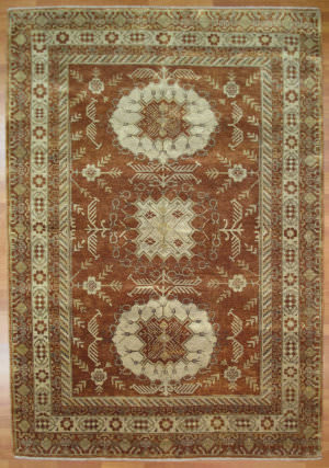 Kalaty Oak 355485 Rust Ivory Area Rug