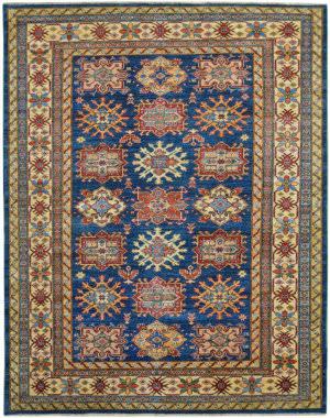 Kalaty Oak Pak Kazak 4630 Blue Area Rug