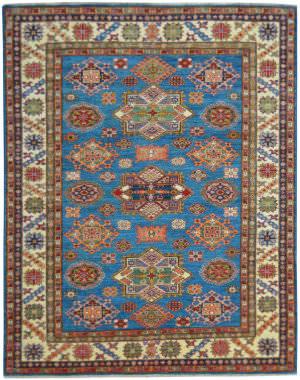 Kalaty Oak Pak Kazak 4672 Blue Area Rug