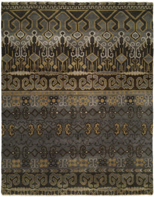 Famous Maker Artisan 100055 Grey Brown Area Rug