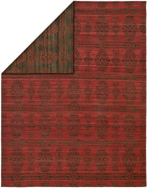 Kalaty Endura EN-914 Charcoal - Red Area Rug