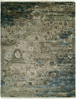 Famous Maker Elixir 100025 Vintage Grey - Blue Area Rug