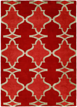 Famous Maker Portico 100340 Red Hot Area Rug