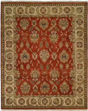 Kalaty Pasha Ph-974 Rust - Ivory Area Rug