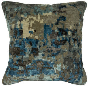 Kalaty Bespoke Pillow Pb-574 Abstract Blue - Grey
