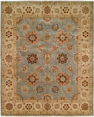 Famous Maker Regal Legacy Rh-780 Ice Blue - Ivory Area Rug