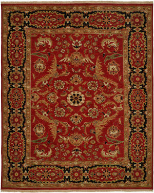 Kalaty Soumak Su-215 Red - Black Area Rug