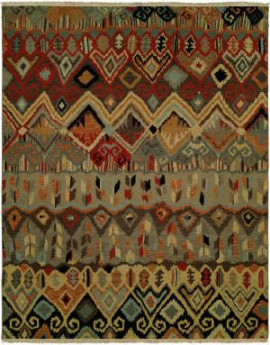 Famous Maker Soumak 100479 Boho Multi Area Rug
