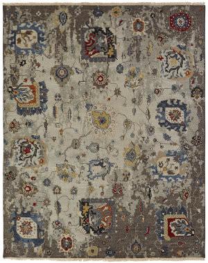 Famous Maker Soumak 100486 Linen / Denim Area Rug