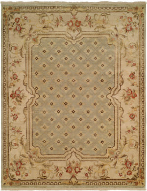 Famous Maker Tuslon 100713 Light Blue - Beige Area Rug