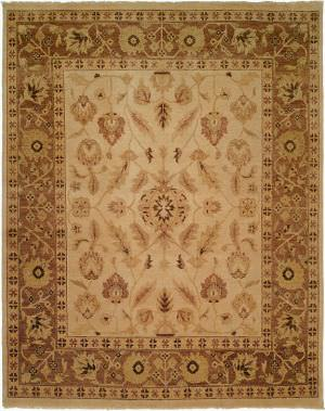 Kalaty Oushak Ou-411 Ivory/Light Brown Area Rug