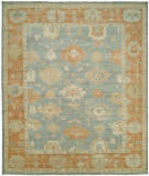 Famous Maker Kozoa 100124 Stone Blue - Rust Area Rug