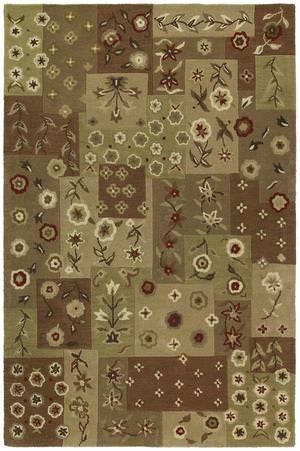 Kaleen Khazana Patchwork 6553 Chocolate 40 Area Rug