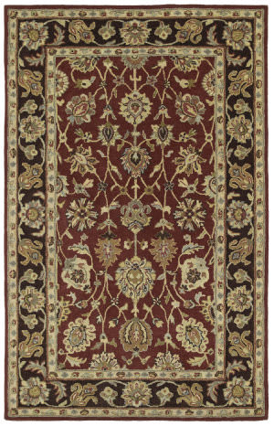 Kaleen Heirloom Deborah Burgundy 8803 Area Rug