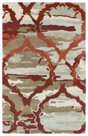 Kaleen Brushstrokes Brs02-25 Red Area Rug