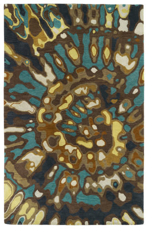 Kaleen Brushstrokes Brs04-40 Chocolate Area Rug