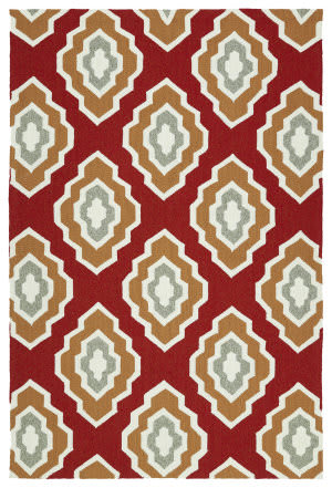 Kaleen Escape Esc02-25 Red Area Rug