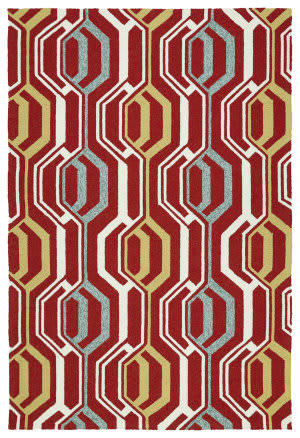 Kaleen Escape Esc08-25 Red Area Rug
