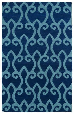 Kaleen Glam Gla05-17 Blue Area Rug