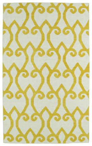 Kaleen Glam Gla05-28 Yellow Area Rug