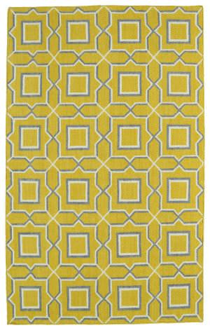 Kaleen Glam Gla06-28 Yellow Area Rug