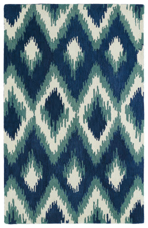 Kaleen Global Inspirations Glb10-17 Blue Area Rug