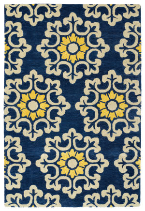 Kaleen Global Inspiration Glb100-17 Blue Area Rug