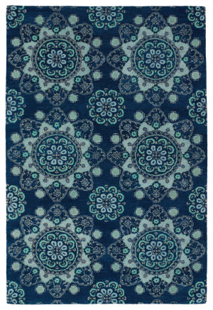 Kaleen Global Inspiration Glb12-22 Navy Area Rug