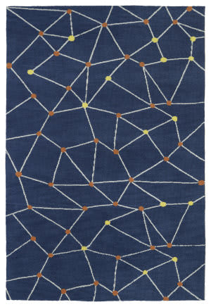 Kaleen Lily And Liam Lal08-10 Denim Area Rug