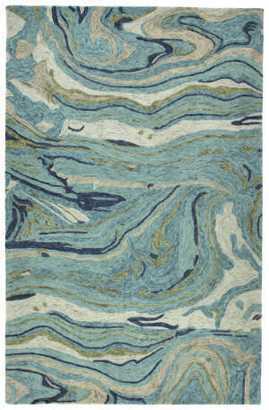 Kaleen Marble Mbl03-91 Teal Area Rug