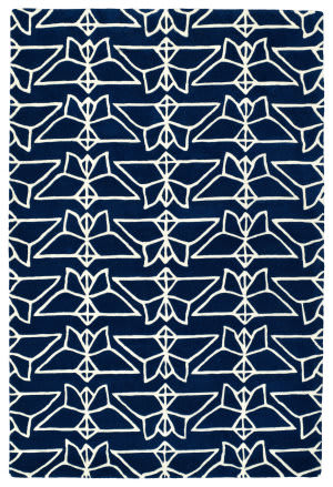 Kaleen Origami Org07-22 Navy Area Rug