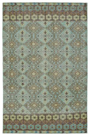 Kaleen Relic Rlc04-78 Turquoise Area Rug