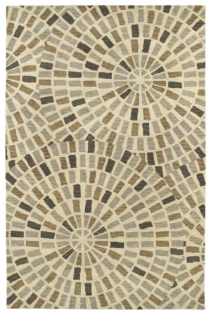 Kaleen Rosaic Roa01-49 Brown Area Rug