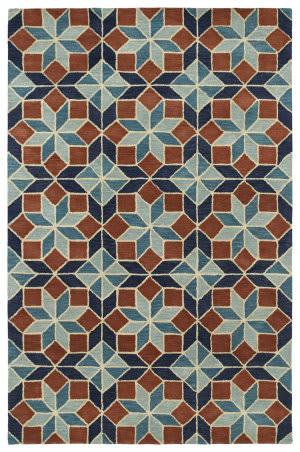 Kaleen Rosaic Roa04-78 Turquoise Area Rug