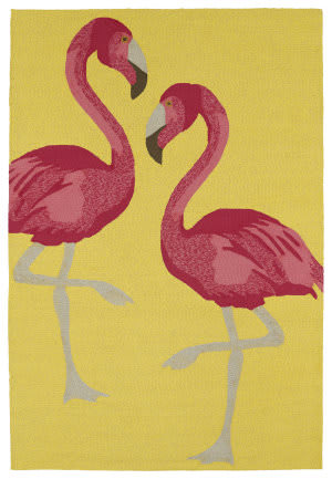 Kaleen Sea Isle Sea04-28 Yellow Area Rug