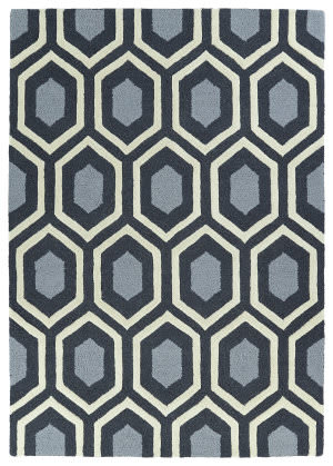 Kaleen Spaces Spa03-38 Charcoal Area Rug
