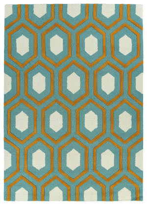 Kaleen Spaces Spa03-91 Teal Area Rug