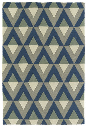 Kaleen Spaces Spa06-17 Blue Area Rug