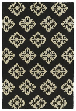 Kaleen Spaces Spa09-02 Black Area Rug