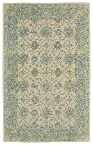 Kaleen Weathered Wtr06-91 Teal Area Rug