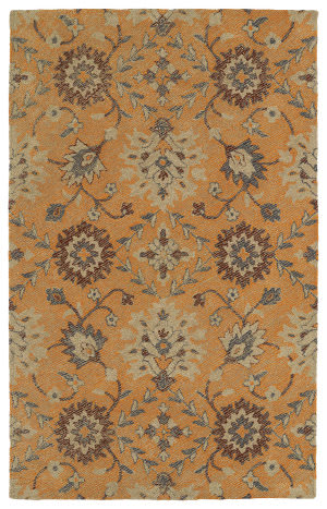 Kaleen Weathered Wtr07-89 Orange Area Rug
