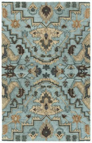 Kaleen Zocalo Zoc03-17 Blue Area Rug